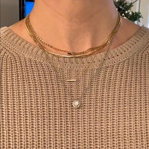 *NWT* Silver Banana Republic CZ Necklace